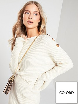 v-by-very-buttoned-shoulder-detail-co-ord-jumper-camel