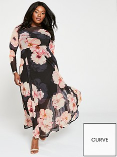 v-by-very-curve-printed-mesh-maxi-dress