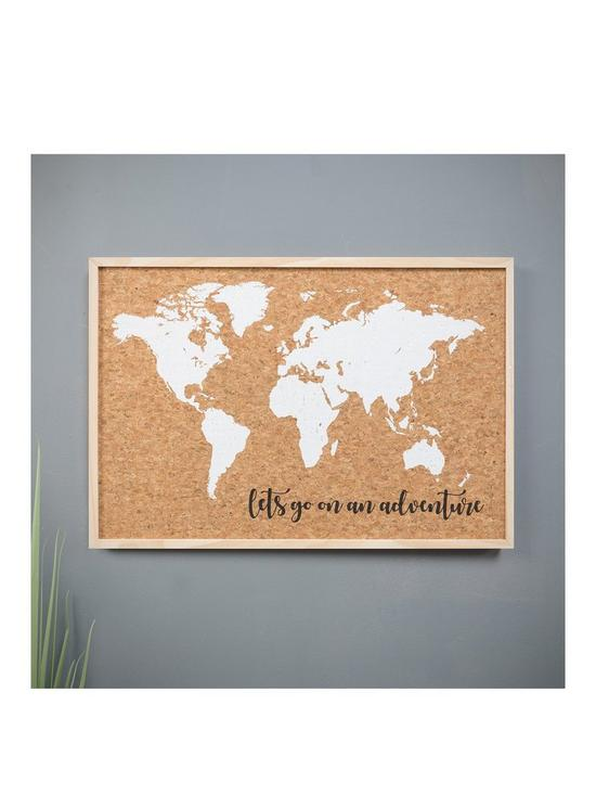 Explore World Map Cork Pin Board With Pins Very Co Uk