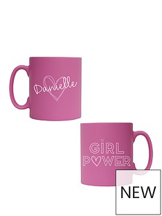 personalised-pink-girl-power-mug