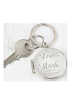 personalised-love-is-written-in-the-stars-photo-keyring