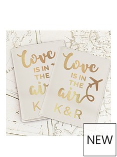 personalised-love-is-in-the-air-leather-passport-set