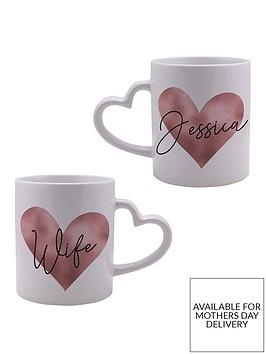 personalised-rose-gold-heart-handle-mug