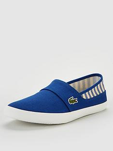 23822f80a Lacoste Marice Canvas Slip On Shoe - Dark Blue