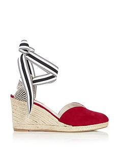 lulu-guinness-eve-suede-wedges-red