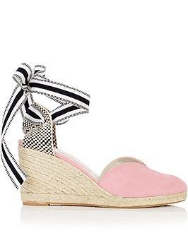 lulu-guinness-eve-suede-wedges-pink