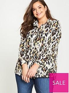 v-by-very-curve-longline-blouse-animal-print