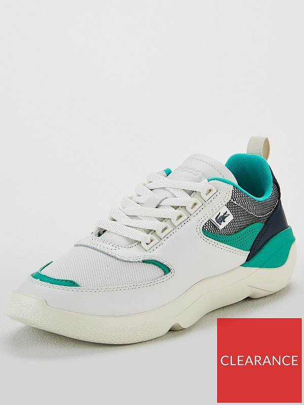 cabb0162b91f9 Lacoste Wildcard Trainer - Off White/Green | very.co.uk