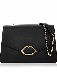 lulu-guinness-annabel-lip-detail-shoulder-bag-black