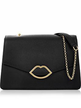 lulu-guinness-annabel-lip-detail-shoulder-bag-black