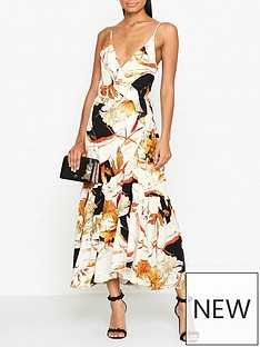gestuz-abeline-floral-print-wrap-dress--nbspcreamorange