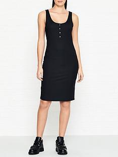 gestuz-rollow-rib-bodycon-dress-black