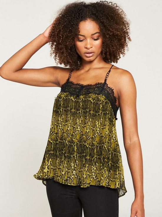 0ca966f50278 V by Very Lace Trim Swing Cami - Animal Print   very.co.uk