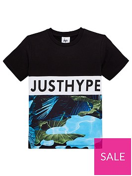 hype-boys-lillypad-block-t-shirt-black