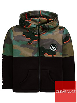 hype-boys-camo-zip-through-hoodie-ndash-black