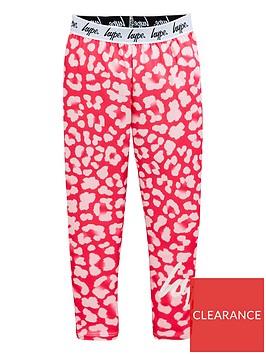 hype-girls-leopardnbspwaistband-leggings-pink