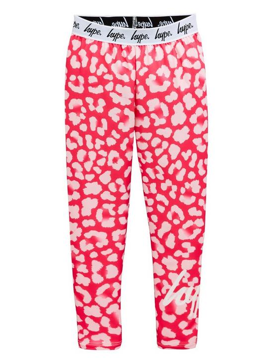ff93963505ea3 Hype Girls Leopard Waistband Leggings - Pink | very.co.uk