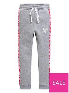 64d0c593e6722 Hype Girls Leopard Print Jog Pants - Grey Marl