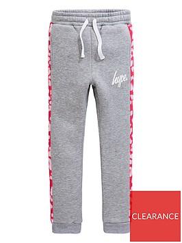 hype-girls-leopardnbspprint-jog-pants-grey-marl