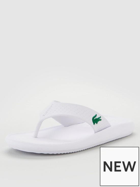 167b410a8 Lacoste Croco Sandal - White