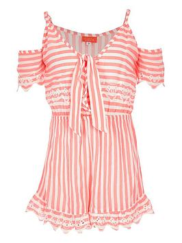 river-island-girls-cold-shoulder-stripe-playsuit-pink