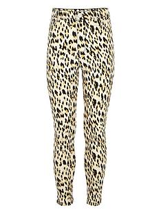 0b4e6a29a3a9a2 River Island Girls Molly leopard print jeggings - brown | very.co.uk