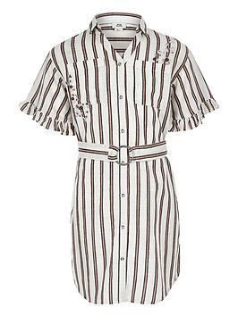 river-island-girls-stripe-shirt-dress-coral