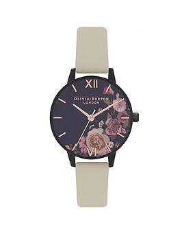 olivia-burton-olivia-burton-after-dark-matte-black-and-lilac-floral-dial-vegan-nude-strap-ladies-watch