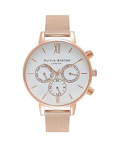 olivia-burton-oliva-burton-white-and-rose-gold-chronograph-dial-rose-gold-stainless-steel-mesh-strap-ladies-watch
