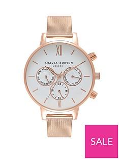 olivia-burton-oliva-burton-white-and-rose-gold-chronograph-dial-rose-gold-stainless-steel-mesh-strap-ladies-watch