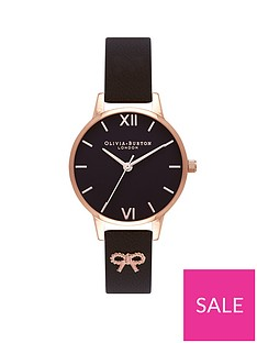 olivia-burton-olivia-burton-vintage-bow-black-and-rose-gold-dial-black-leather-strap-ladies-watch