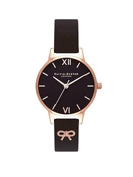 olivia-burton-olivia-burton-vintage-bow-black-and-rose-gold-dial-black-leather-strap-ladies-watch