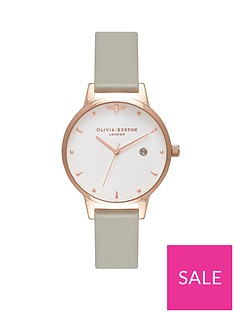 olivia-burton-olivia-burton-queen-bee-white-and-rose-gold-dial-grey-leather-strap-ladies-watch