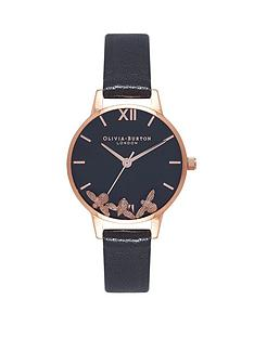 olivia-burton-olivia-burton-busy-bees-black-and-rose-gold-dial-black-leather-strap-ladies-watch