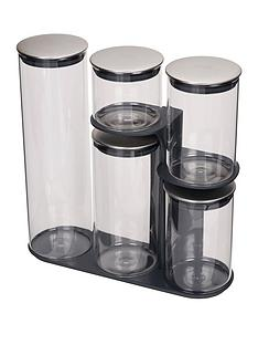 joseph-joseph-podium-100-collection-5-piece-storage-jar-set-with-stand