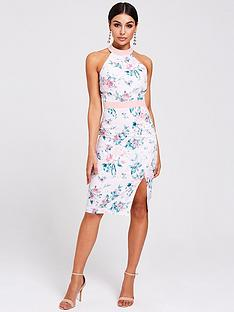 cfb633315ae Paper Dolls Paper Dolls Racer Neck Floral Bodycon Dress