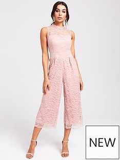 71799c1497 Paper Dolls High Neck Crochet Jumpsuit