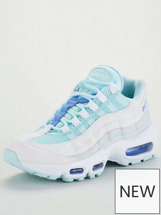 best service 4a3af d02df Nike Air Max 95 - Light Blue White