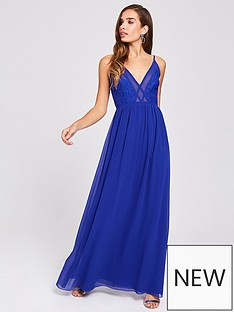 little-mistress-little-mistress-chiffon-mesh-insert-maxi-dress