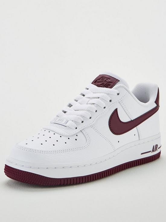 47ddf384c Nike Air Force 1 '07 - White/Burgundy | very.co.uk