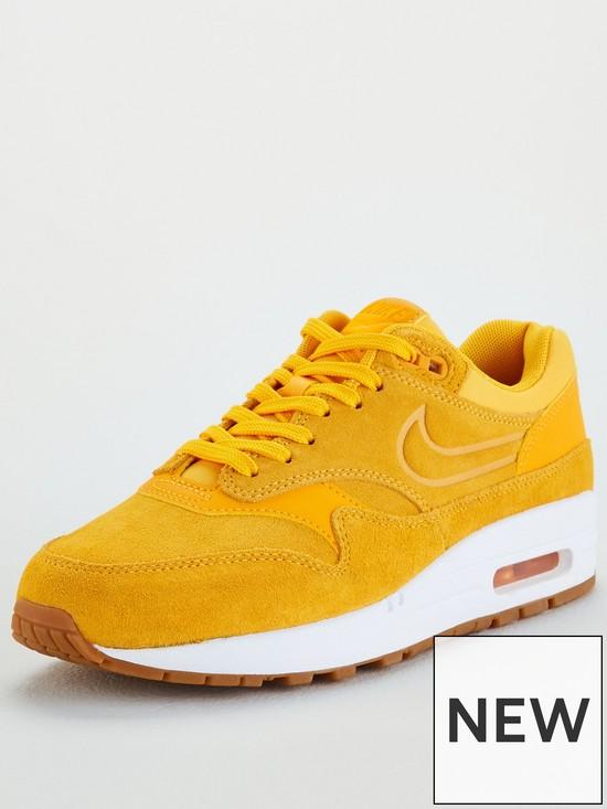 4b5bf6c735781 Nike Air Max 1 Premium - Gold White | very.co.uk