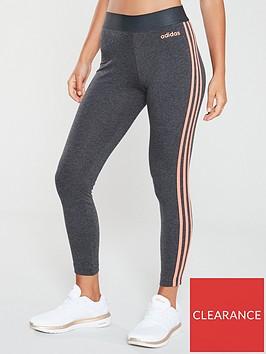 adidas-essential-3snbspleggings-dark-grey-heathernbsp
