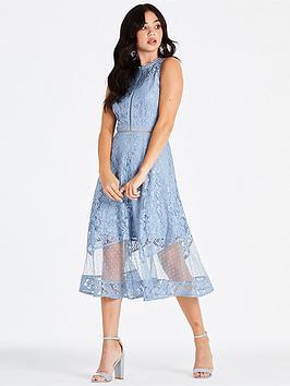 little-mistress-lace-spot-midi-dress-blue