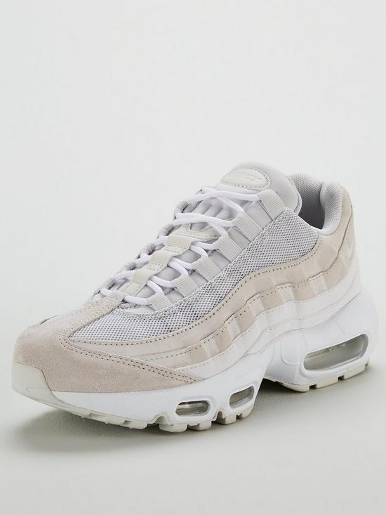 official photos 3bf6d 87487 Nike Air Max 95 Premium - Grey White   very.co.uk