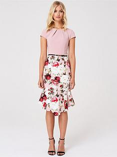 paper-dolls-paper-dolls-2-in-1-floral-fluted-skirt-bodycon-dress