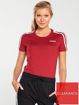 adidas-essentials-3-stripe-slim-tee-maroonnbsp