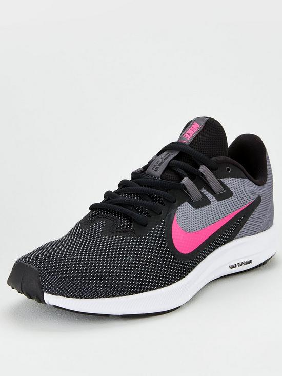 9f6dd85b41fa4 Nike Downshifter 9 - Black/Grey/Pink | very.co.uk