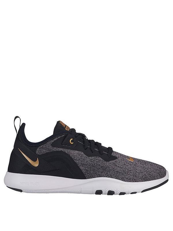 visa ejemplo Juicio  Nike Flex Trainer 9 - Black/Gold | very.co.uk