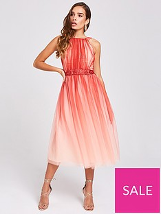 little-mistress-high-neck-mesh-two-tone-midi-dress-pink