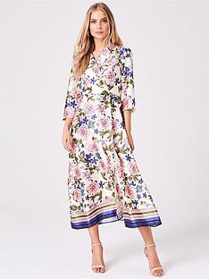 girls-on-film-girls-on-film-border-print-midi-wrap-dress